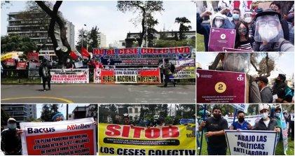Jornada de lucha en Perú contra la precarización y el Gobierno de Vizcarra