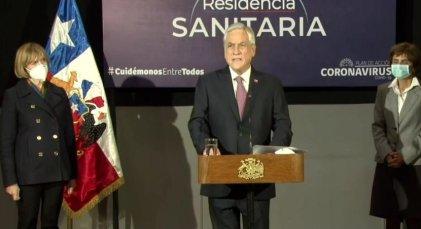 """Piñera pide un """"gran acuerdo nacional"""" mientras colapsa el sistema de salud"""