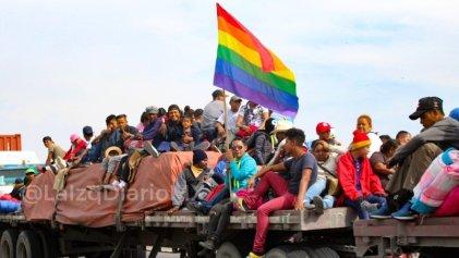 Contingente de migrantes LGBTI+, el primero en llegar a Tijuana