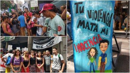 Movilización contra el proyecto de Garavano para bajar la edad de punibilidad