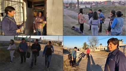 Alejandro Vilca recorrió el barrio Tupac Amaru en Alto Comedero