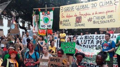 Huelga global por el clima reúne a miles de jóvenes en San Pablo