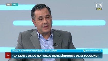 "La gorilada de Finocchiaro: ""en La Matanza tienen síndrome de Estocolmo"""