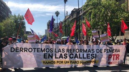 Miles de personas se movilizaron en Chile contra el sistema de jubilación privada
