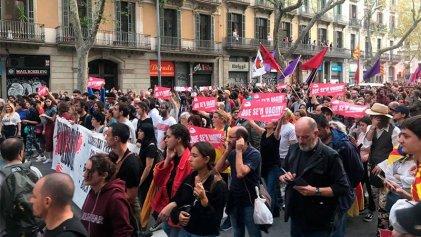Sexta jornada de protestas en Barcelona: decenas de miles marcharon contra la represión y por la libertad de los presos