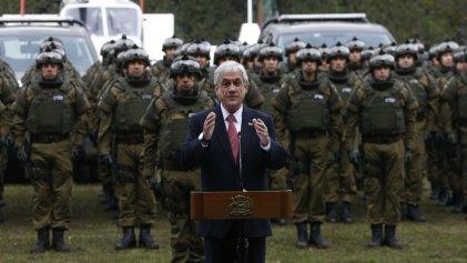 Piñera refuerza la represión: 2.500 carabineros saldrán a la calle el próximo lunes