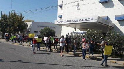 Escobar: en Sanatorio San Carlos, empleados exigen pruebas de COVID-19 y desinfección