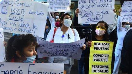 En México, 23.5% de los casos de Covid-19 son de personal de salud
