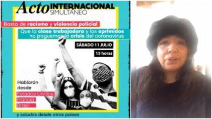 """Acto internacional: """"como migrante en Argentina me tengo que sumar e invitar"""""""
