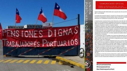 Portuarios de Chile paran este miércoles en medio de la votación por el retiro de pensiones