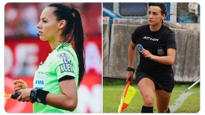 Histórico: De Almeida y Milone, primeras mujeres en arbitrar partidos de Copa Libertadores