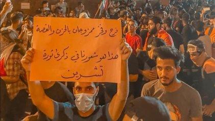 Miles toman las calles de Irak en el primer aniversario de las revueltas de octubre