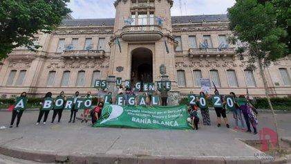En Bahía Blanca también se movilizó para exigir aborto legal ya