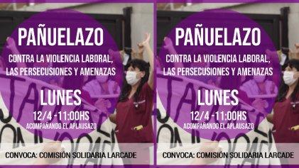 Hospital Larcade: pañuelazo contra las persecuciones y aprietes de Jaime Méndez a los trabajadores