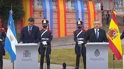 Pedro Sánchez con Alberto Fernández, el objetivo: negocios españoles