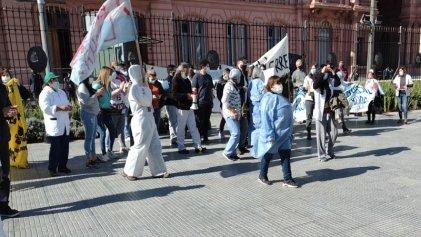 Autoconvocados de salud del AMBA se manifestaron en Plaza de Mayo