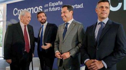 Vargas Llosa reunido con la derecha española: ahora quiere el voto calificado