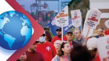 Resumen internacional: siguen las luchas en EE. UU., crisis en la cadena de suministros global, la izquierda clasista en las elecciones y más