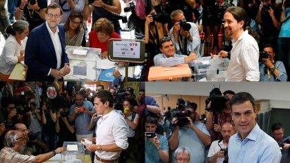 Los principales candidatos a la presidencia del gobierno pasan por las urnas