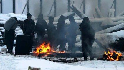 Quince grados bajo cero: el duro invierno de refugiados en Belgrado