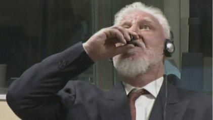 Muere un excomandante bosniocroata tras beber veneno durante su juicio en La Haya