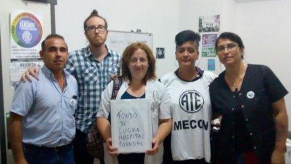 Los trabajadores del Ministerio de Hacienda se solidarizan con el Hospital Posadas