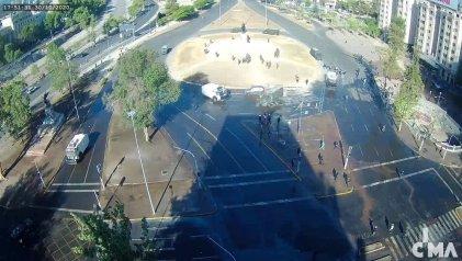 Policía reprime manifestación por la libertad de los presos políticos en Chile