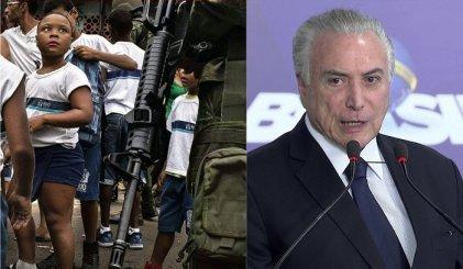 Indignante: el Ejército revisa las mochilas escolares de los niños en Río de Janeiro