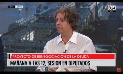 """Castillo sobre la deuda: """"En Diputados va a haber un pacto entre el oficialismo actual y el anterior"""""""