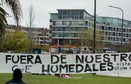 Tigre: protesta de vecinos asambleístas exigen Ley de Humedales y frenar el avance de los countries