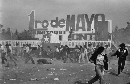 1º mayo 1984: una gran manifestación contra la dictadura