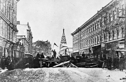 El manifiesto del zar y el orador de la Revolución rusa en 1905