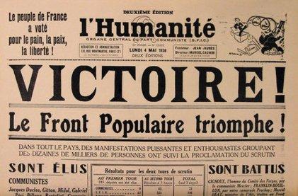 El gobierno del Frente Popular en Francia