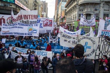 La fuerza y el entusiasmo de los sectores en lucha marcó la jornada de protesta