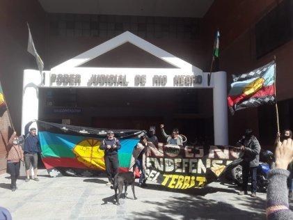 Manifestaciones de solidaridad y contra la represión en el Lof Quemquemtrew