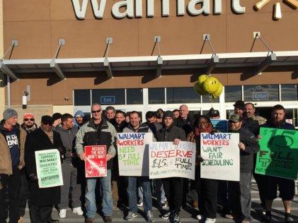 """Los trabajadores de Walmart en lucha contra el """"Viernes Negro"""""""