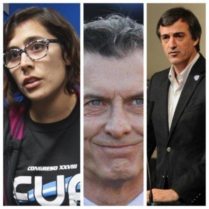 La Franja Morada en la lista de Macri y Esteban Bullrich