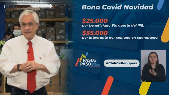 Piñera hipócrita se sube al carro del 10% y anuncia bonos