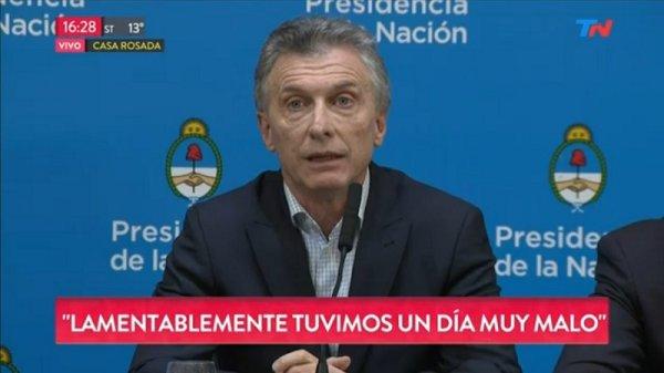 Argentina: Macri alentó el chantaje de los mercados y no anunció ninguna medida ante la crisis