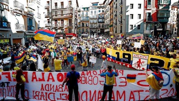 """Duque avanza con el """"diálogo"""" para intentar desactivar las protestas en Colombia"""