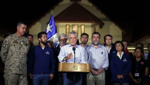 Piñera garantiza el funcionamiento de mineras en medio de la crisis