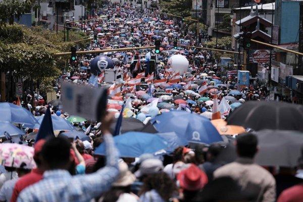 Cientos de miles se movilizaron contra el FMI y el ajuste en Costa Rica