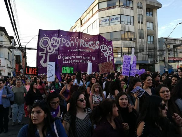 8M: miles de mujeres hicieron temblar Antofagasta