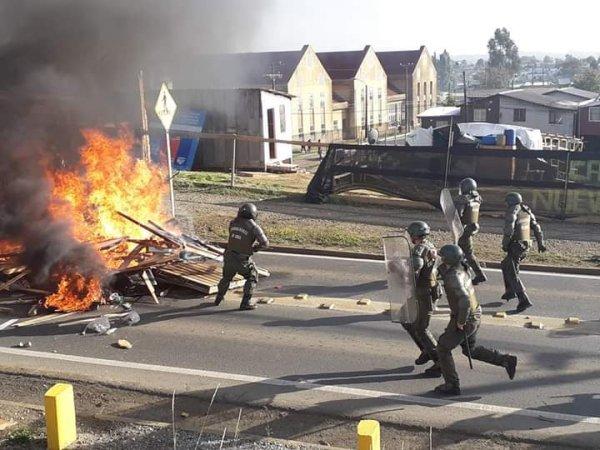 Violento desalojo de Toma de terreno en Osorno